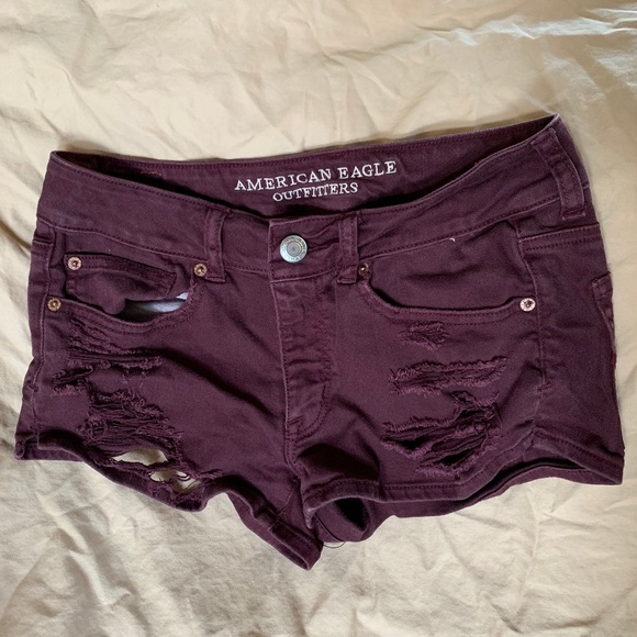 American Eagle Outfitters Pants - American Eagle Shortie Merlot ASO Teen Wolf